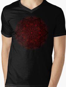 Filigree Mandala *bordeaux* Mens V-Neck T-Shirt