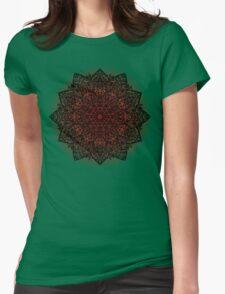 Filigree Mandala *bordeaux* Womens Fitted T-Shirt