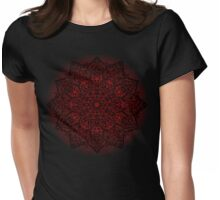 Filigree Mandala *bordeaux* Womens Fitted T-Shirt