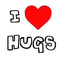 I Heart Hugs Photographic Print