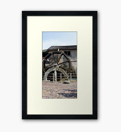 St. Augustine Water Wheel Framed Print