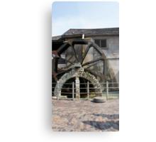 St. Augustine Water Wheel Metal Print