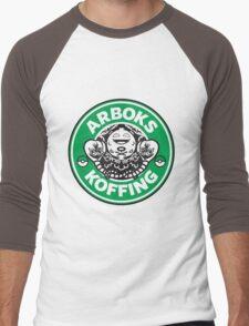 Arboks koffing pokemon starbucks parody Men's Baseball ¾ T-Shirt