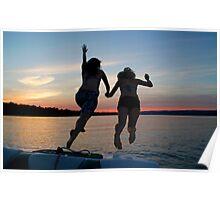 Sunset Swim - Ottawa River, Ontario Poster