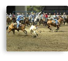 Roping Cowboys Canvas Print