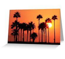 California Sunshine (Huntington Beach, California) Greeting Card