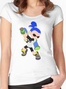 Inkling Boy (Blue) - Splatoon Women's Fitted Scoop T-Shirt