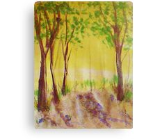 Grove of trees, watercolor Canvas Print
