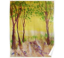 Grove of trees, watercolor Poster