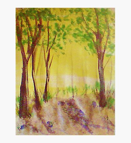 Grove of trees, watercolor Photographic Print