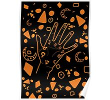 Palmistry- Black & Orange Poster