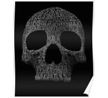 "Hamlet ""to be or not to be"" typography skull Poster"