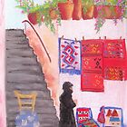 Rugs in Anogia, Greece by Elena Malec