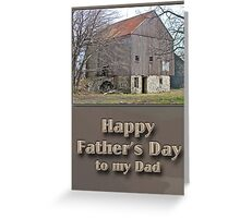 Fathers Day Pennsylvania Bank Barn Greeting Card