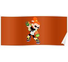 Inkling Boy (Orange) - Splatoon Poster