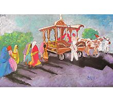 Hindu procession in rural India Photographic Print