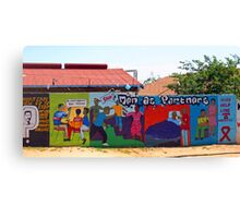 Colorful commercial -Soweto style! Canvas Print
