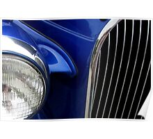 37 Plymouth Blue Bling Poster