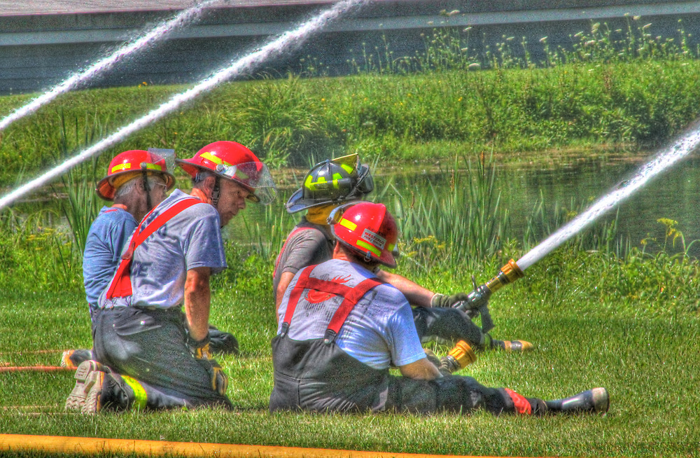 """A Not So """"Dry"""" Run at the Westerlo Fire Department by Edith Reynolds"""