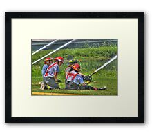 "A Not So ""Dry"" Run at the Westerlo Fire Department Framed Print"