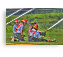"A Not So ""Dry"" Run at the Westerlo Fire Department Canvas Print"