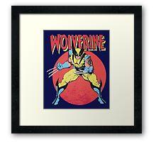 Wolverine Retro Comic Framed Print
