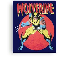 Wolverine Retro Comic Canvas Print