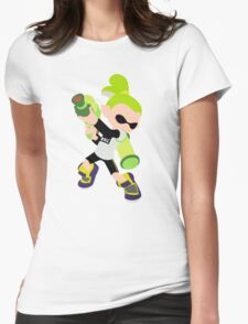 Inkling Boy (Green) - Splatoon Womens Fitted T-Shirt