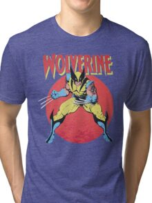 Wolverine Retro Comic Tri-blend T-Shirt