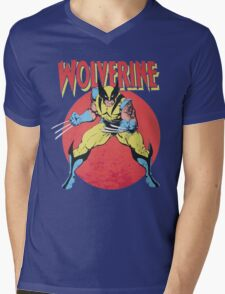 Wolverine Retro Comic Mens V-Neck T-Shirt