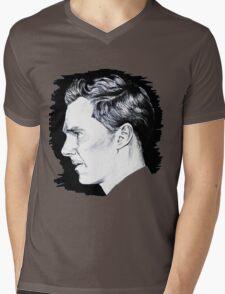 Cumberbatch Drawing Mens V-Neck T-Shirt