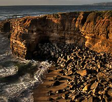Coast at sunset by Kenneth Ng