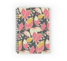 Seamless floral pattern with hand drawn leaves Spiral Notebook