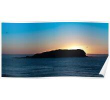 Cook Island panorama Poster