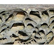 Eroded Rock Art Photographic Print