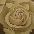 Cream Rose 1  by Martha Mitchell