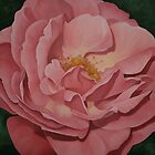 Open Light Pink Rose by Martha Mitchell