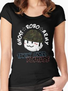 The GhostRobo Army Women's Fitted Scoop T-Shirt