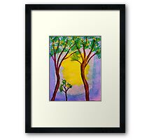 Proud to present,, watercolor Framed Print