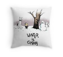 Jon and Ghost Throw Pillow