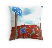 """""""Police Station"""" Throw Pillow"""