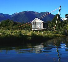 hut on the jacobs II, south westland, nz by rina  thompson