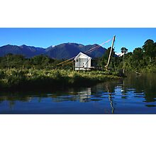 hut on the jacobs II, south westland, nz Photographic Print