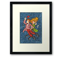Doctor and River in Space Framed Print