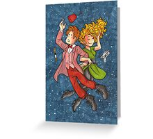 Doctor and River in Space Greeting Card