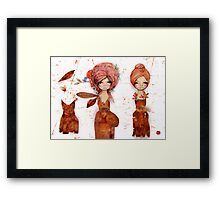 teabag couture Framed Print