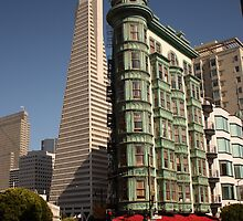 View to TransAmerica building, San Francisco by Chris Bentley
