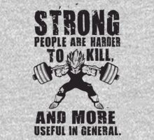 Strong People Are Harder To Kill - Vegeta Squat by oolongtees