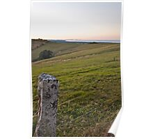 view from Hayters Hill Poster