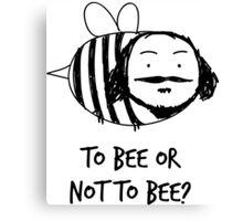 Moustache Bee Canvas Print
